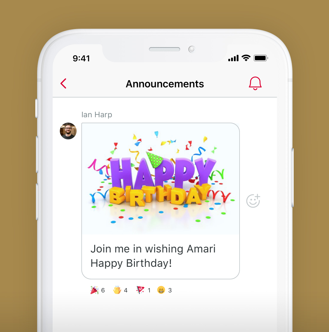 Phone with Happy Birthday message